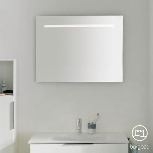 Burgbad Eqio Spiegel mit LED-Beleuchtung B: 80 H: 60 T: 2,6 cm SIGP080PN258, EEK: A+