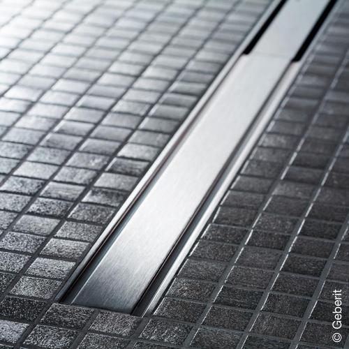 Geberit CleanLine 60 Duschrinne für dünne Bodenbeläge edelstahl gebürstet, für Duschrinne: 30 - 130 cm 154459001
