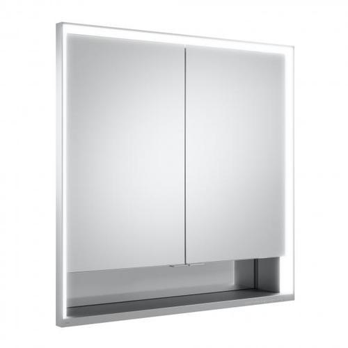 Keuco Royal Lumos Unterputz-Spiegelschrank mit LED-Beleuchtung B: 80 H: 73,5 T: 16,5 cm 14312171301, EEK: A+