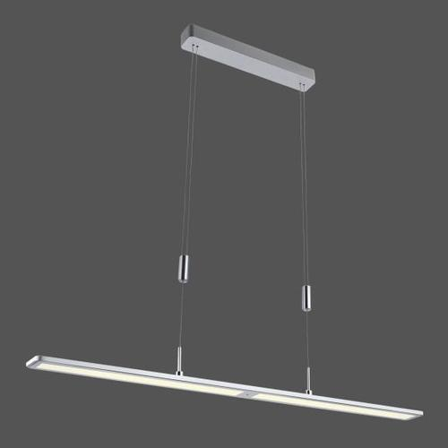 Paul Neuhaus Nika LED Pendelleuchte mit CCT und Dimmer B: 100 H: 160 T: 7 cm, aluminium 2565-95, EEK: A+