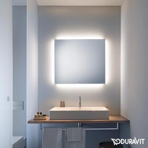 Duravit Spiegel B: 80 H: 70 T: 3,3 cm mit indirekter LED-Beleuchtung Good-Version LM780600000, EEK: A+