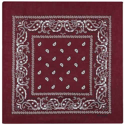 Rock Daddy Bordeaux Paisley Bandana - bordeaux