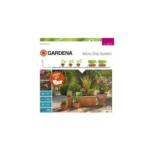 GARDENA MDS Start-Set für Pflanztöpfe M Micro-Drip-System MDS Start-Set Pflanztöpfe M