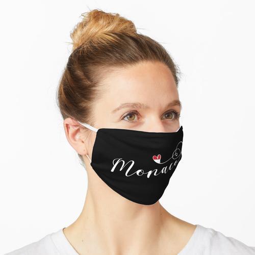 Herz Monaco, Monaco-Flagge, ich liebe Monaco Maske