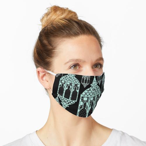 Arabische Laternen (mint   schwarz) Maske