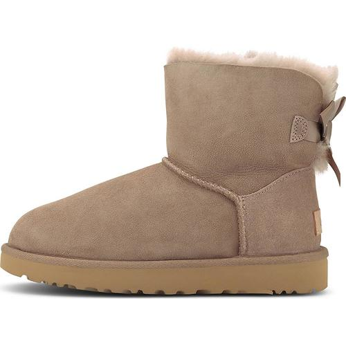 UGG, Boots Mini Bailey Bow Ii in taupe, Boots für Damen Gr. 42