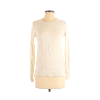 Tommy Hilfiger Wool Pullover Sweater: Ivory Solid Sweaters & Sweatshirts - Size X-Small