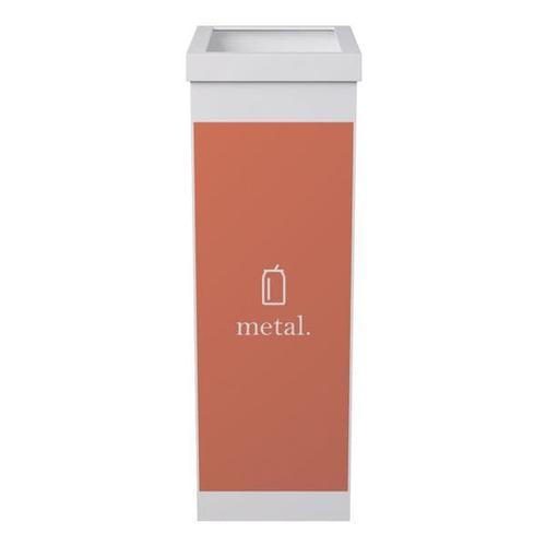 Abfallbehälter weiß 60 L - für Metall weiß, Paperflow