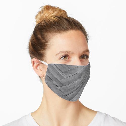 Fischgräten-Holzplatten Maske