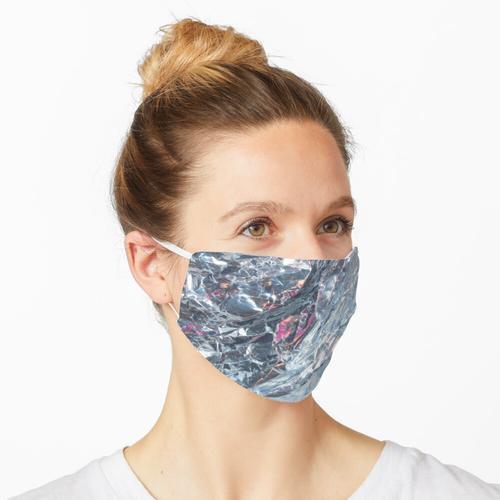 Silber Holographische Folie Maske