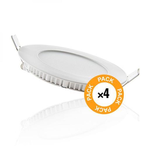Pack 4 LED Slimline Downlight 120Mm 6W 400Lm 30.000H | Natürliches Weiß (JL-GP-LZ-1-PK4-AP)