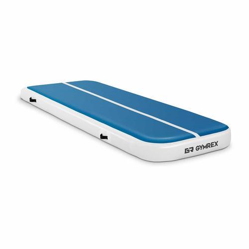 Gymrex Aufblasbare Turnmatte - Airtrack - 300 x 100 x 20 cm - 150 kg - blau/weiß GR-ATM4