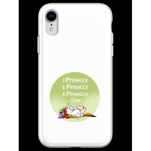 1 Prosecco, 2 Prosecco, 3 Prosecco, Boden, Flexible Hülle für iPhone XR