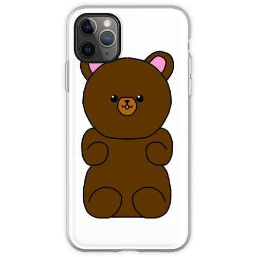 Teddybär flauschiges Stofftier Flexible Hülle für iPhone 11 Pro Max