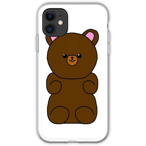 Teddybär flauschiges Stofftier Flexible Hülle für iPhone 11