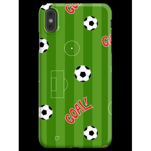 Fußballplatz | Fußballplatz und Fußbälle iPhone XS Max Handyhülle