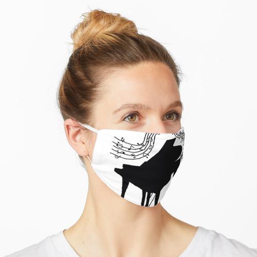 Klavier- und Musiknoten Maske