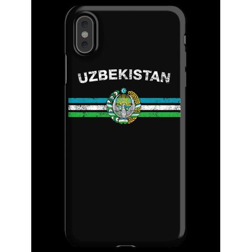 Usbekisches oder Usbekistanisches Flaggen-Hemd - Usbek- oder Usbekistan-Emb iPhone XS Max Handyhülle