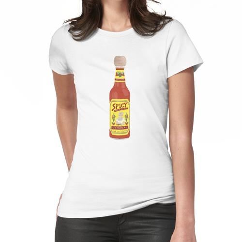 Hot & Spicy Picante Hot Sauce mit Katzenfarbstift Art Frauen T-Shirt