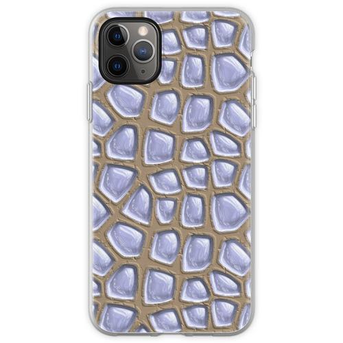 Es gibt Glasbausteine im Sand. Flexible Hülle für iPhone 11 Pro Max