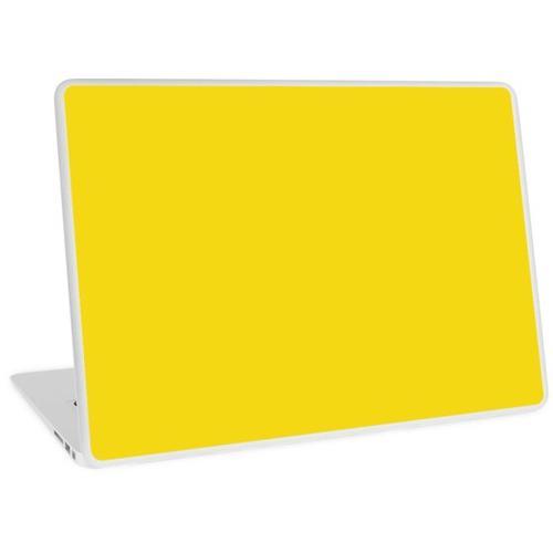 # f5d814 HEX CODE WEB FARBEN HELLGELB Laptop Skin