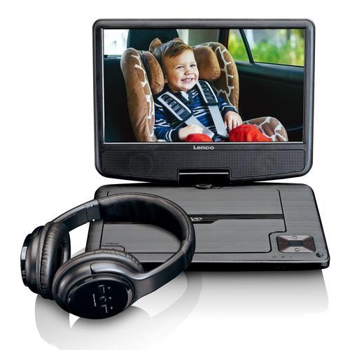 Lenco DVP-947 Tragbarer DVD-/Blu-Ray-Player Tragbarer DVD-Player Tisch Schwarz 22,9 cm (9 Zoll) 802 x 480 Pixel