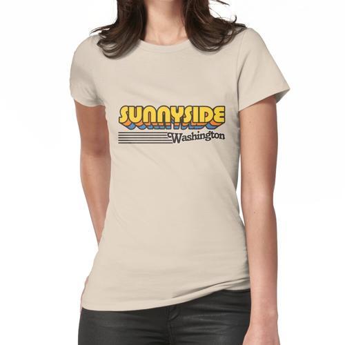 Sunnyside, Washington | Retro Streifen Frauen T-Shirt