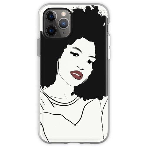 Roter Lippenstift und Diamantohrringe Flexible Hülle für iPhone 11 Pro