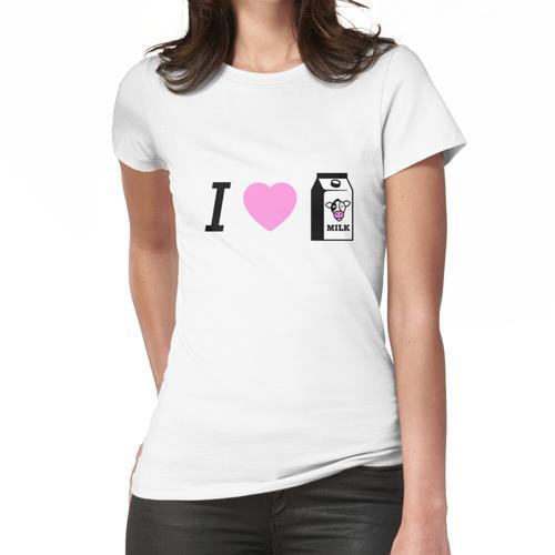 Ich liebe Milchdesign Frauen T-Shirt
