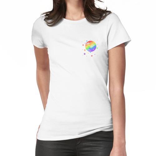 Regenbogenplanet und Sterne Frauen T-Shirt