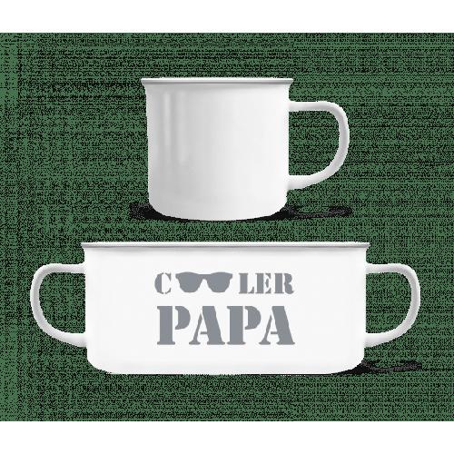 Cooler Papa - Sonnenbrille - Emaille-Tasse