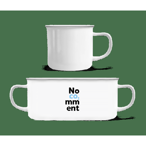 No Comment - Emaille-Tasse
