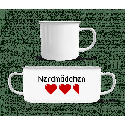 Nerdmädchen - Emaille-Tasse