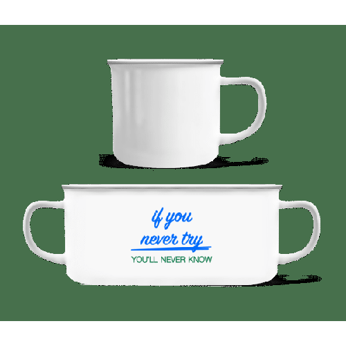 Try - Emaille-Tasse