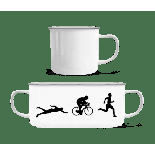 Triathlon - Emaille-Tasse