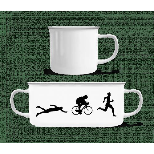 Triathlon - Emaille-Tasse