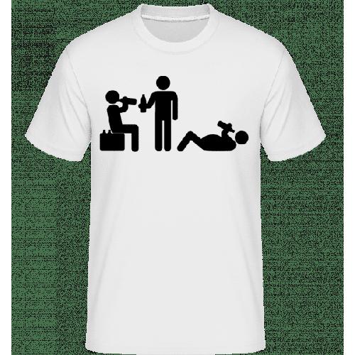Freunde Trinken Bier - Shirtinator Männer T-Shirt