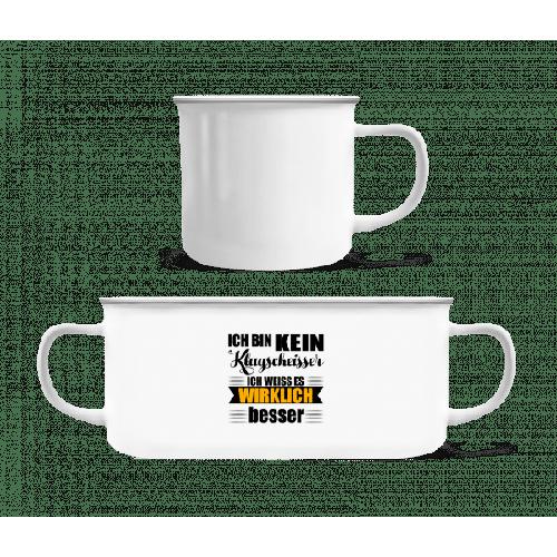 Ich Bin Kein Klugscheisser - Emaille-Tasse