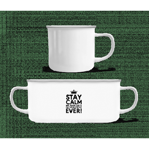 Stay Calm I'm The Best Boss - Emaille-Tasse