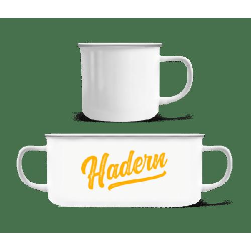 Hadern Swoosh - Emaille-Tasse