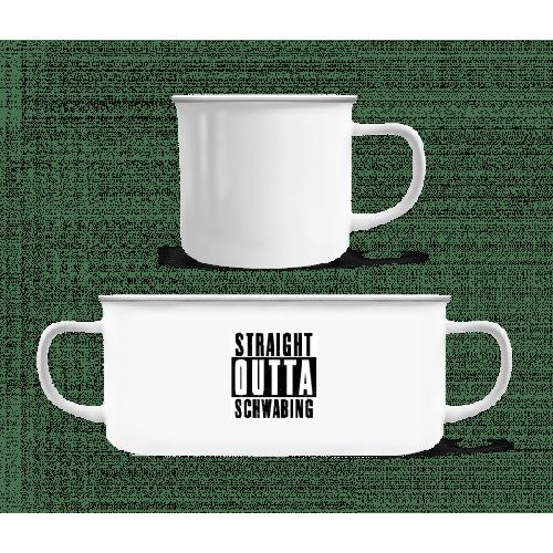 Straight Outta Schwabing - Emaille-Tasse