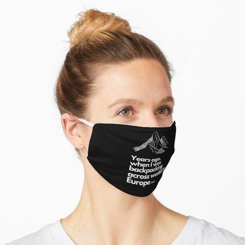 Backpacking in ganz Westeuropa Maske