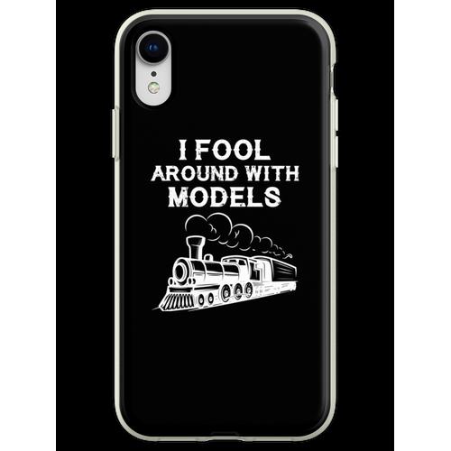 Züge Eisenbahn Lokomotive Eisenbahner Geschenk Flexible Hülle für iPhone XR