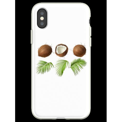 Kokusnuss-Palme Flexible Hülle für iPhone XS