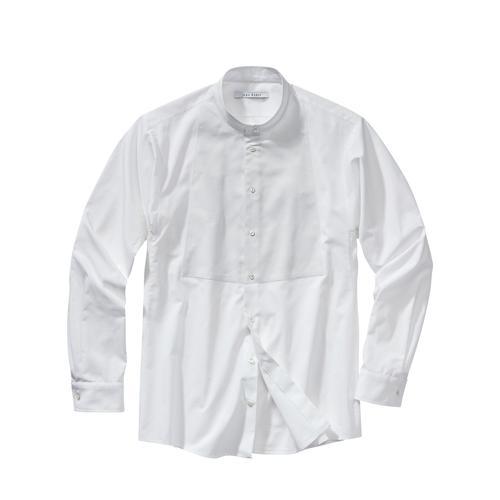 Mey & Edlich Herren Hemd Designer-Plastronhemd weiß 46, 48, 50, 52, 54, 56