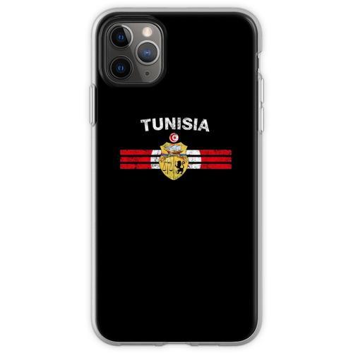 Tunesisches Flaggen-Hemd - tunesisches Emblem-u. Tunesien-Flagg Flexible Hülle für iPhone 11 Pro Max