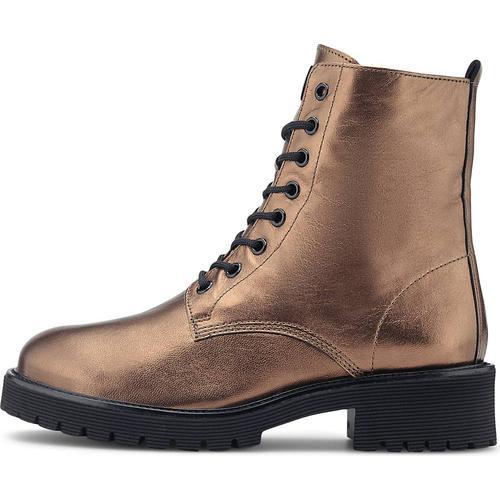 Högl, Metallic-Boots in bronze, Boots für Damen Gr. 41 1/2