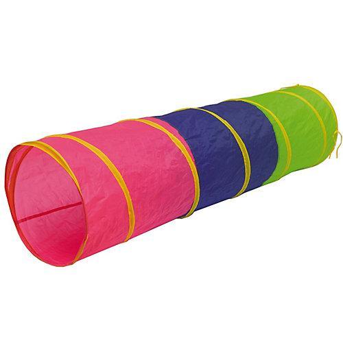 Kinder Spieltunnel 180 cm - Pop Up Krabbeltunnel Pink Blau mehrfarbig