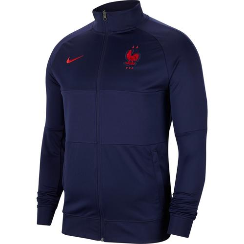 Nike Frankreich 2021 Trainingsjacke Herren in blackened blue-university red, Größe L