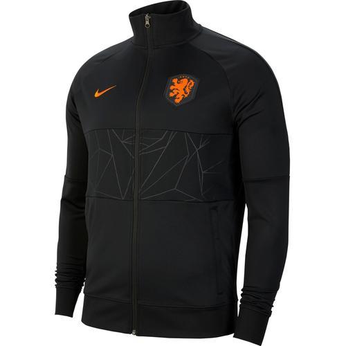 Nike Niederlande 2021 Trainingsjacke Herren in black-black-black-safety orange, Größe S